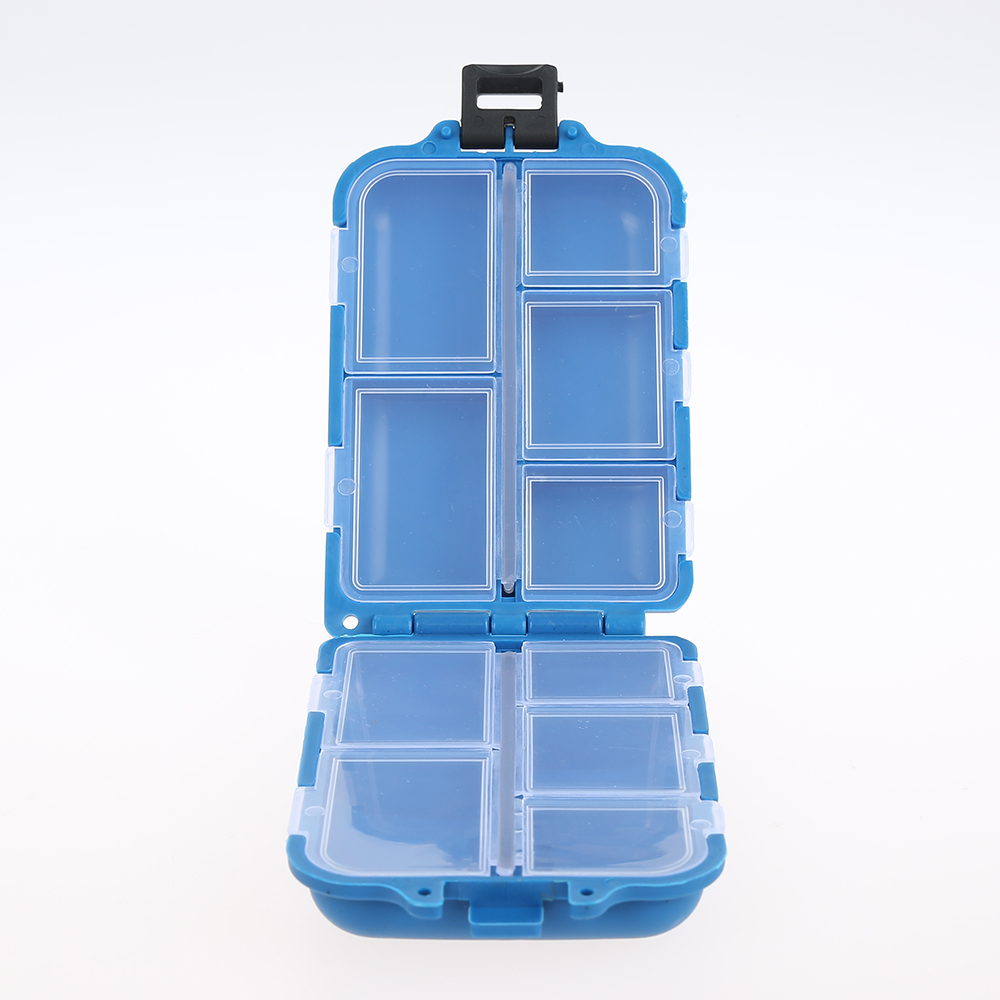 JOSHNESE Outdoor Fishing Lure Spoon New 10 Compartments Storage Case Hook Bait Tackle Case Box Fishing Accessories+Free ship! abs pp material fishing tackle box fish lure storage case with 15 compartments