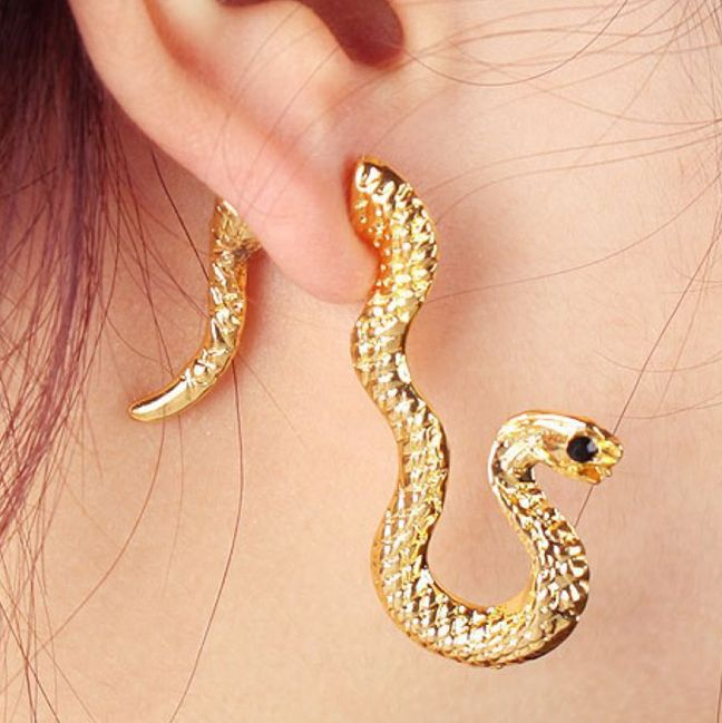 Whol New Design Gold Snake Earrings Womens Jordans 24 Pieces Lot Free Shipping In Stud From Jewelry Accessories On