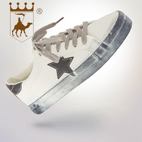 BACKCAMEL2019 spring new stars retro old tie low to microfiber leather rubber shoes Non slip wearSIZE37 40 off white shoes
