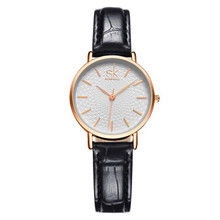 High Quality Leather Belt Ladies Waterproof Wrist Watch Luxury Female J
