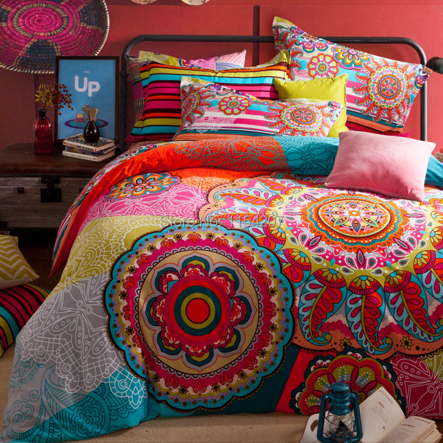 2015 nouvelle collection nouvelle 40 couette bohemian literie boho style marocaine bed housse de. Black Bedroom Furniture Sets. Home Design Ideas