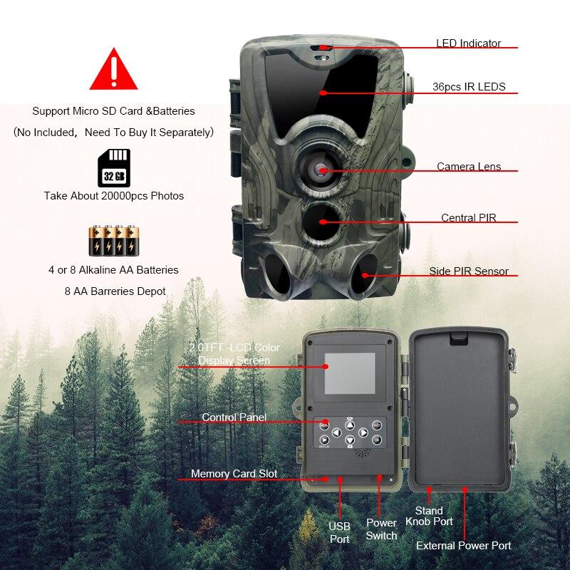 Image 3 - Новейшая охотничья камера gps Беспроводная 4G LTE дистанционное управление приложение охота на Камо камера для съемки диких животных дикой природы фото ловушка скауты HC 801A-in Камеры для охоты from Спорт и развлечения