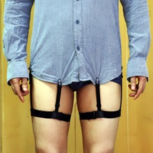2017 New Mens Shirt Stays Garters Elastic Nylon Adjustable Shirt Holders Crease-Resistance Belt Stirrup Style Suspenders Sep22