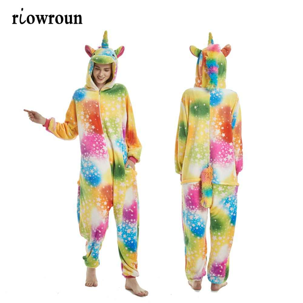a38a6295fc Onesie Wholesale Animal Kigurumi Tigger Star Unicorn onesies Adult Unisex  Women Hooded Sleepwear Adult Winter Flannel