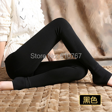 FREE SHIPPING Women Thicken Fur Warm Leggings womens winter clothes plus size pants hot sale S M L XL XXL
