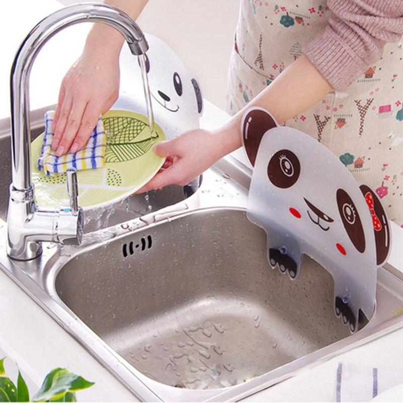 Panda Designed Water Splash Sucker Sink Flap Kitchen Tool Accessiors Basin