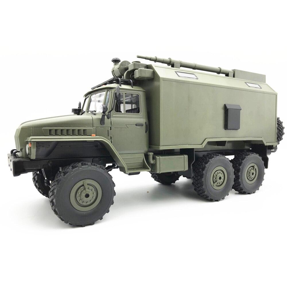 Новый WPL B36 Урал 1/16 2,4 г 6WD Rc автомобиль военный грузовик Рок Гусеничный с Батарея в автомобиле
