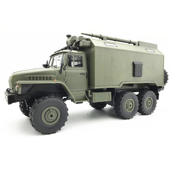 NEW WPL B36 Ural 1/16 2.4G 6WD Rc Car Military Truck Rock Crawler With Battery in the Car