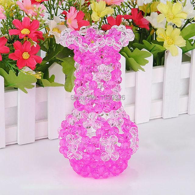 1 Bag Crystal Glass Beads Diy Handicraft Beadwork Kits Wedding