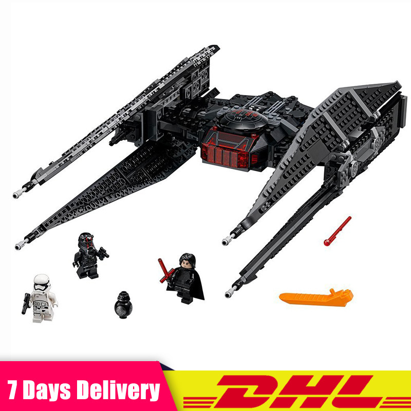 DHL IN Stock LEPIN 05127 Star 705 PCS Series Wars New The Tie Model Fighter Building Blocks Bricks Compatible LegoINGlys 75179 new 1685pcs lepin 05036 1685pcs star series tie building fighter educational blocks bricks toys compatible with 75095 wars