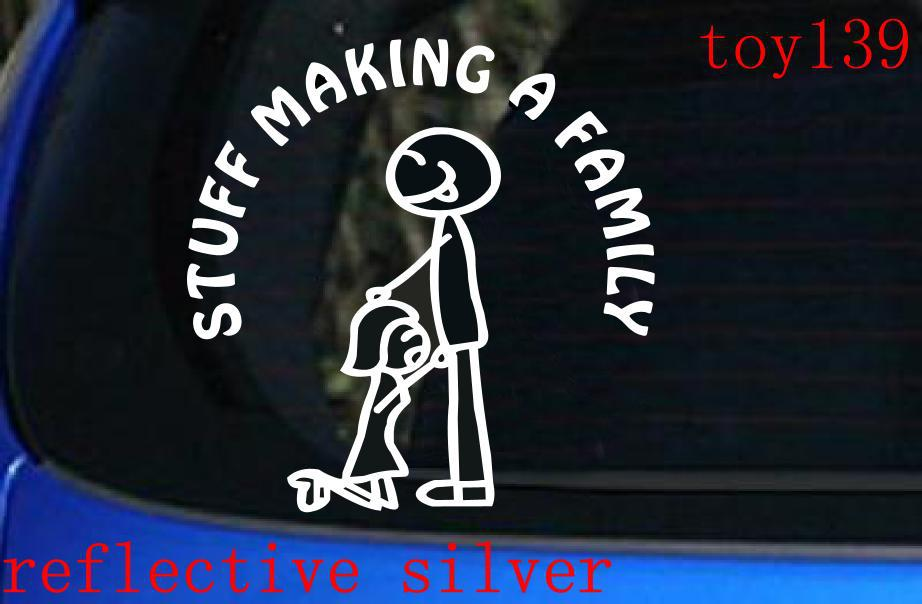 Stuff making a family funny car window vinyl sticker decal reflective silver on aliexpress com alibaba group