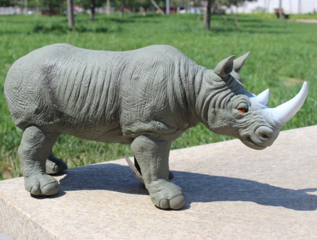Soft Rhinos Wild Forest Animals Toys Action Figures Model PVC Plastic Boys Collections Toy Figure Children Gift 45cm 12pcs set children kids toys gift mini figures toys little pet animal cat dog lps action figures