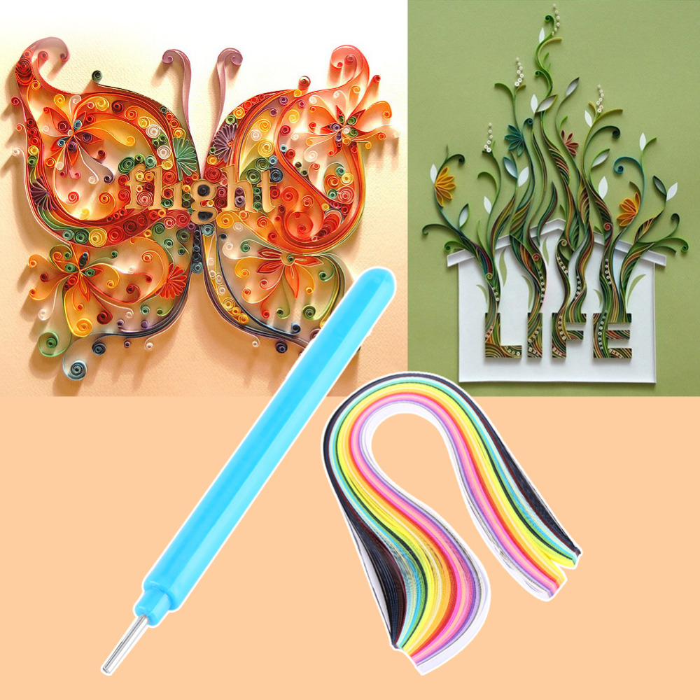 Mixed Color 5 Shapes Paper Quilling Border Buddy Paper Craft Tool ...