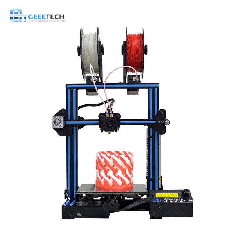 Geeetech A10M Mélanger-couleur Rapide Assemblée bricolage 3d Imprimante Super Plaque Foyer Filament Détecteur Break-la reprise Capacité