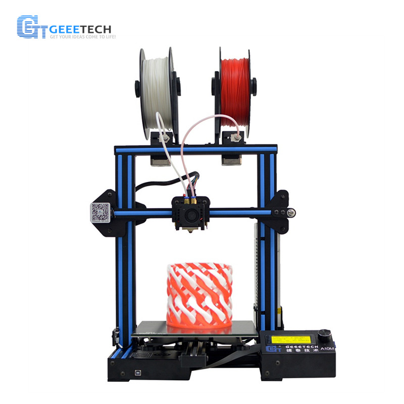 Geeetech A10M Mix color Fast Assembly DIY 3d Printer Super Plate Hotbed Filament Detector Break resuming