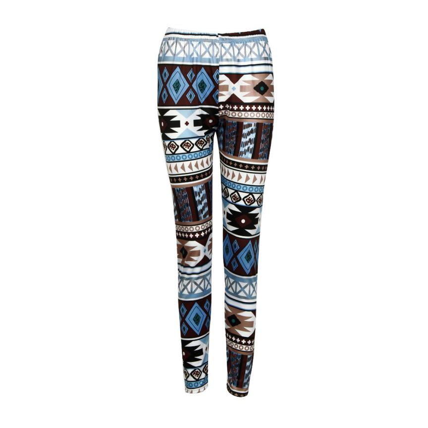 2018 Hot Polyester fitness Women Casual Skinny Geometric Print Stretchy Jegging Slim Leggings warm costumes for winter #0608 1