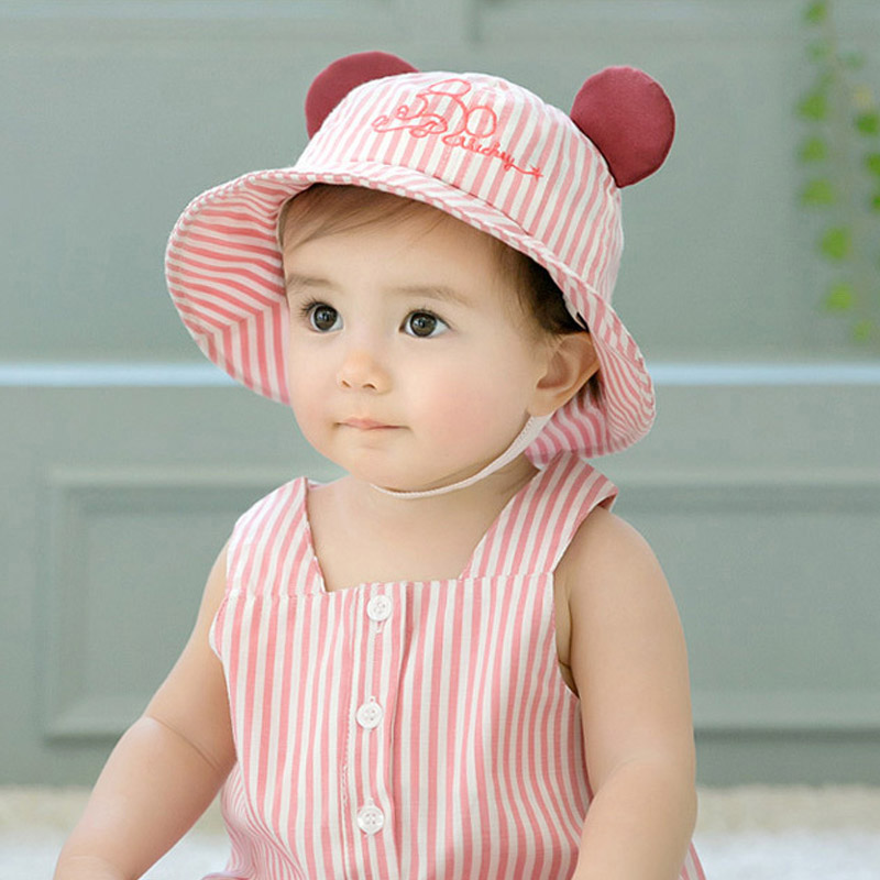 7c883c30bb3 3d Ears New Toddler Infant Kids Summer Hats For Babies Sun Cap Summer  Outdoor Spring Baby Hats Caps Sun Beach Cotton Hat-in Hats   Caps from  Mother   Kids ...