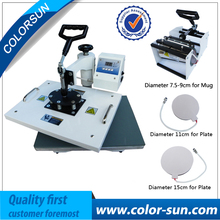 Combo 4 in 1 multifunction heat press machine for T shirt mug cup plate cap printing