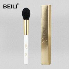 BEILI, Профессиональные кисти для макияжа W05, нано, шерсть, волокно, конические румяна, жемчужно-белая ручка, Золотая Косметическая кисть