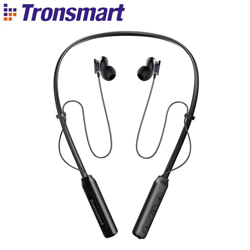 Tronsmart Encore S2 Bluetooth Earphone Wireless Headset Headphones DSP IPX34 Water Resistance for Gamer Gaming Sport Neckband