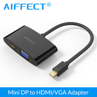 AIFFECT 2 In1 Mini DisplayPort To HDMI VGA Cable Adapter 2K For Apple MacBook Air Pro