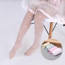 Летние тонкие детские колготки для девочек, балетные танцевальные колготки для маленьких девочек прозрачные детские колготки для девочек от 2 до 15 лет