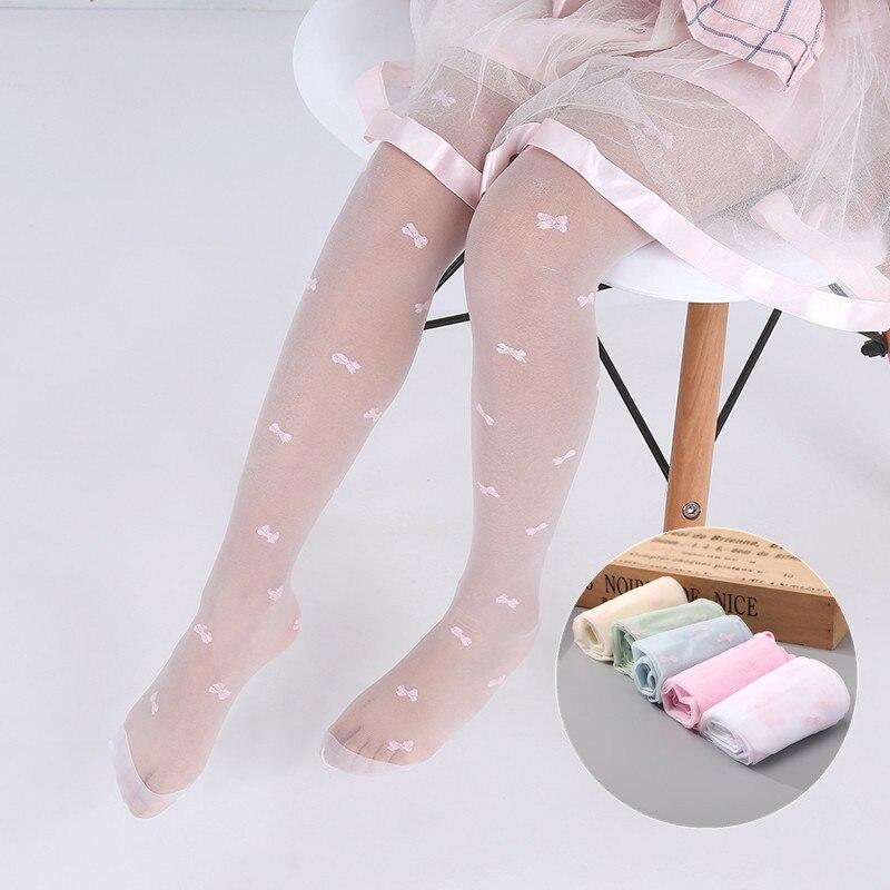 Verão crianças finas meninas collants ballet dança meninas do bebê meias transparentes crianças meia-calça para meninas 2-15 anos