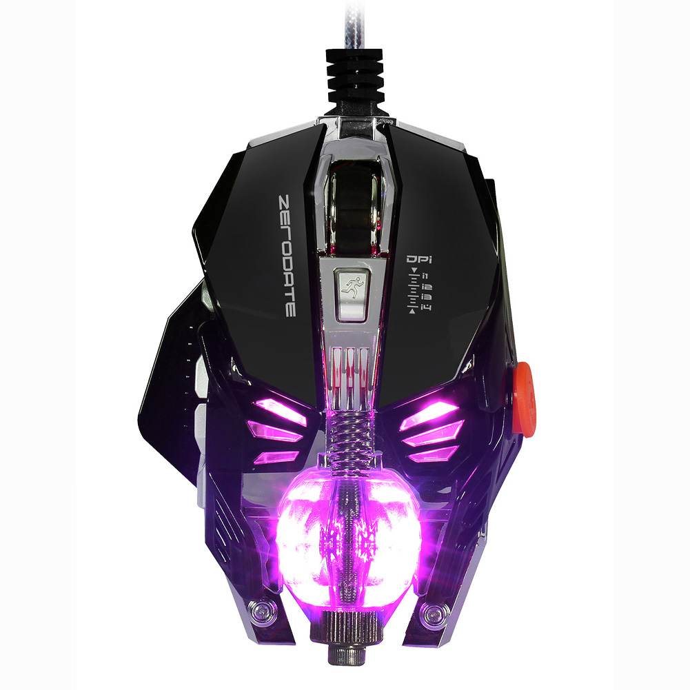 Adjustable 2500DPI X600 USB Wired 8 Buttons Programmable Fire Keys 8D Mechanical Macros Define Gaming Mouse цена и фото