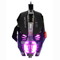 Adjustable 2500DPI X600 USB Wired 8 Buttons Programmable Fire Keys 8D Mechanical Macros Define Gaming Mouse