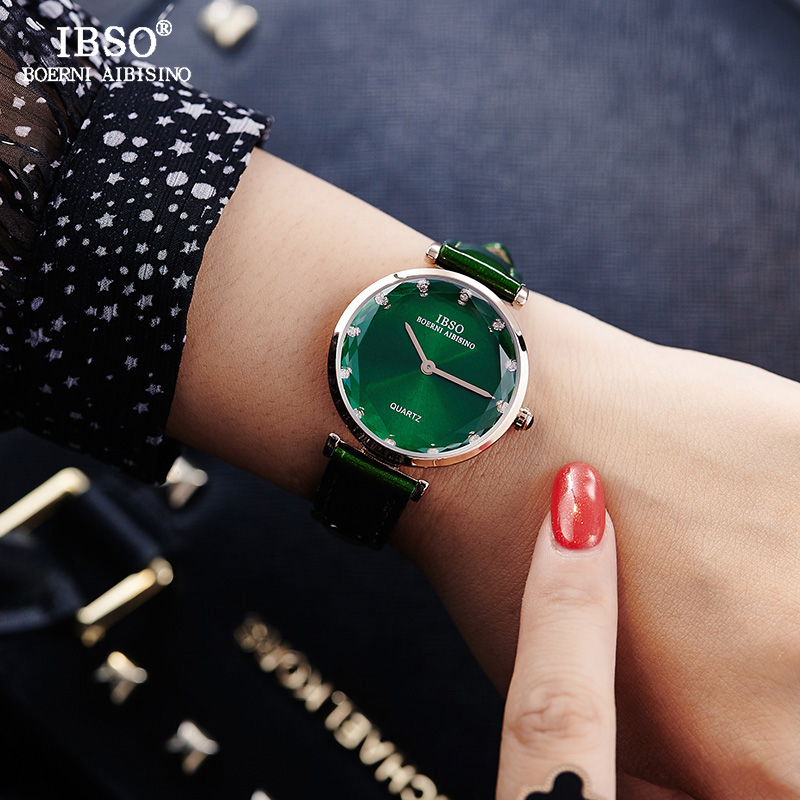 купить IBSO New Fashion Ladies Quartz Watch Women Leather Strap Relogio Feminino Top Brand Luxury Women Wrist Watches Montre Femme 2018 онлайн