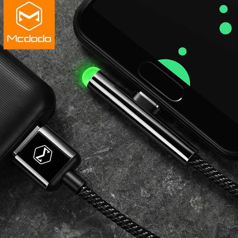 MCDODO LED Fast USB C Type C Cable USB Charger Type-C Cable USB-C Charging For Samsung S10 S9 Xiaomi mi 9 huawei Mate 20 Pro P20