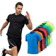 Купить с кэшбэком Men Compression Sports Fitness Shorts Sleeves Running T Shirts 3XS-3XXL Gym Workout Training Soccer Tees Men Shirt tight 2018