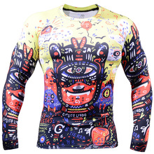 2017 Men Cycling Jersey hot Bike Bicycle Long Sleeves jersey all over printing Shirts