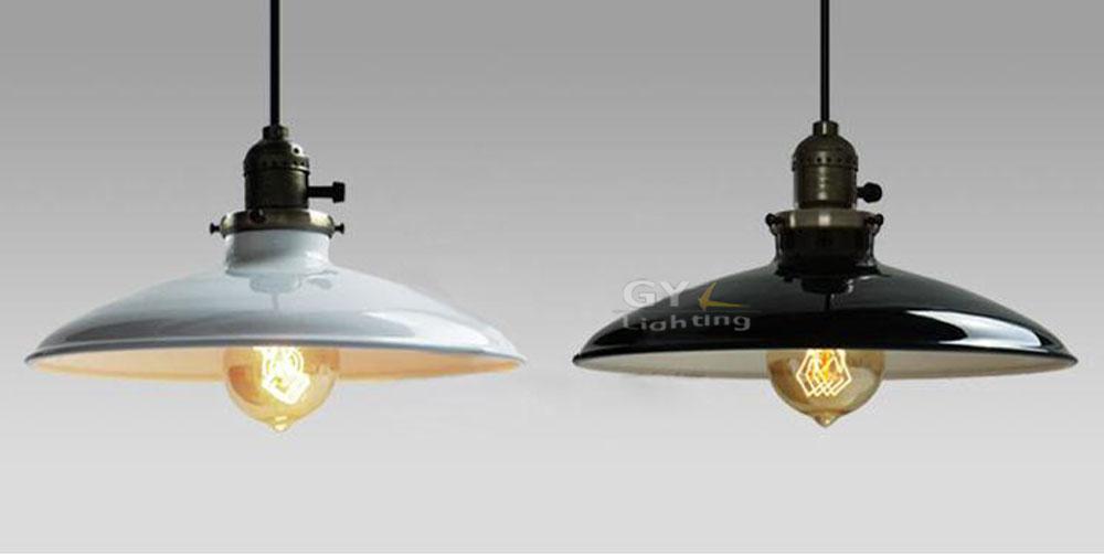 ac100 240v 2612cm white black lampshade lustres home vintage industrial metal ufo pendant antique industrial pendant lights white