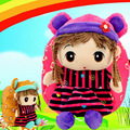 2016 Lovely Cartoon Baby Girls School bags Children's Gifts Kindergarten Backpack Plush Toy Bags Kids Satchel Mochila Infantil