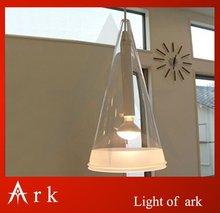 КОВЧЕГ СВЕТ Современный краткое одной головкой фуксия подвесной светильник колокольчиков ресторан лампы бар лампы