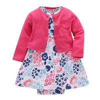 Clearance Baby Dress Sets Infant Baby Girls Clothes Bodysuit Dress 2pcs Baby Fashion Suit Cotton Printed