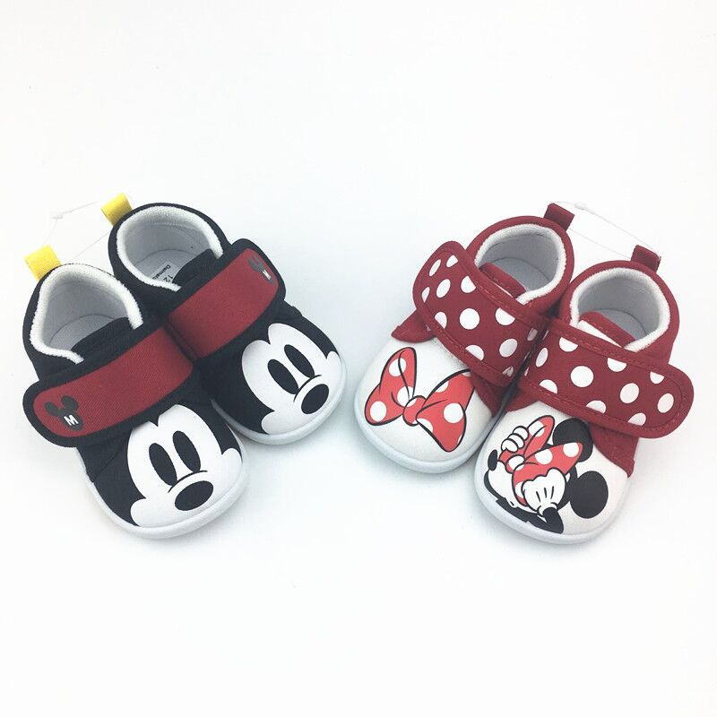 Disney Children's Baby Soft Bottom Mickey Mini Casual Shoes First Walker Shoes Toddler Shoes