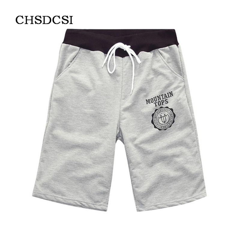 2017 Men Casual Drawstring Pocket Overall Cotton Washed Shorts Bermudas Masculina Solid Colors Letter Short Beach Navegar D020