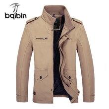 2018 Jackets New Men's Windbreaker Autumn Casual Coats Men Outerwear Slim Fit Stand Collar Male Jacket Business Plus Size 4XL