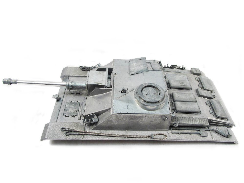 mato metal upper hull for 1/16 Mato Stug III 1226 100% metal tank, with recoil barrel gun