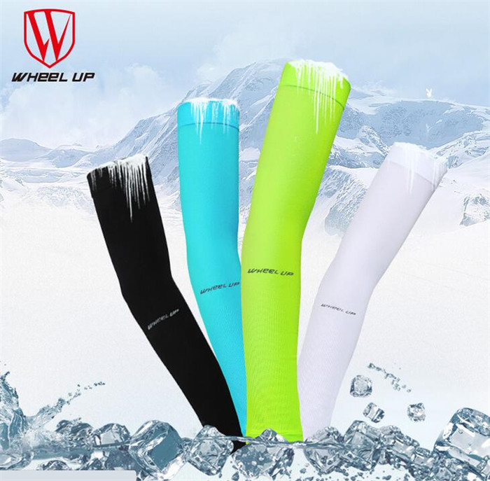 WHEEL UP Breathable UV Proof Icecool MTB Bike Cycling Arm Sleeves Arm Protection Outdoor Armwear Oversleeve Bicycle Equipment
