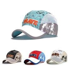 Высококачественная дышащая Детская кепка, летняя бейсбольная бейсболка с колпаком для мальчиков, бейсбольная Кепка с вышивкой, с буквенным принтом, Прямая поставка