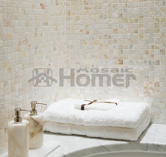 White Bathroom Mosaic Tiles, Mother Of Pearl Tiles Mother Of Pearl  Backsplash Shell Tiles Mesh Backing 2mm Thick In Wall Stickers From Home U0026  Garden On ...