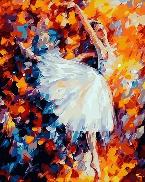 819 Ballet Pintura Al óleo Digital De Diy Por Números Pintura Dibujo Para Colorear Por Número Lienzo Foto Decoración De La Pared Del Arte