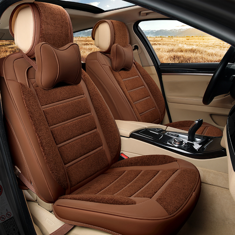 6D New Winter Plush Leather Car Seat Cover Cushion For BMW Audi HONDA CRV Ford Nissa All Cars In Automobiles Covers From Motorcycles On