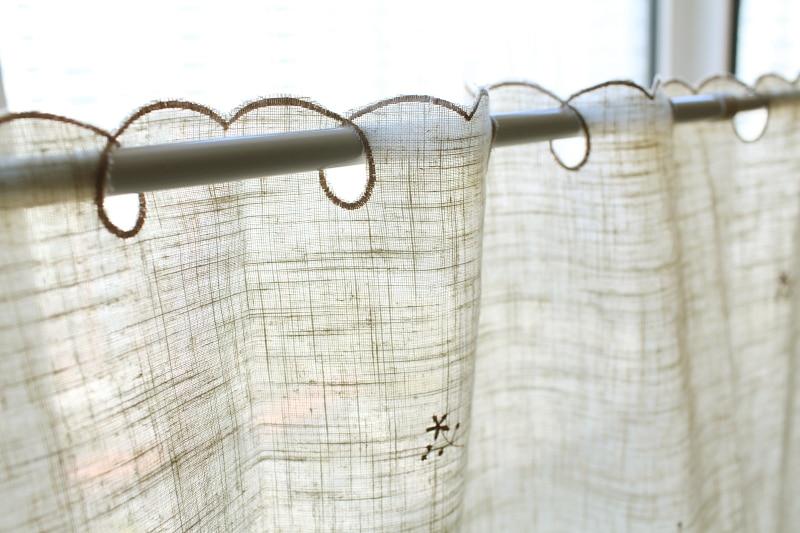 Stile europeo piccolo fiore embroideryed cucina tenda breve tenda ...