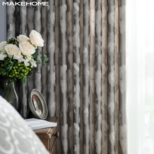 MAKEHOME Luxury Large Spot Jacquard Blackout Curtains for Living room Top Grade Elegant Window Bedroom Modern Curtian Custom(China)