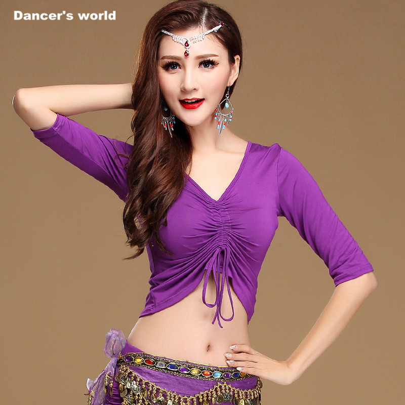 Girls Dance Top Women Dance T+shirt Lady Belly Dance Half Sleeves Top Clothes Belly Dance Clothing M,L,XL