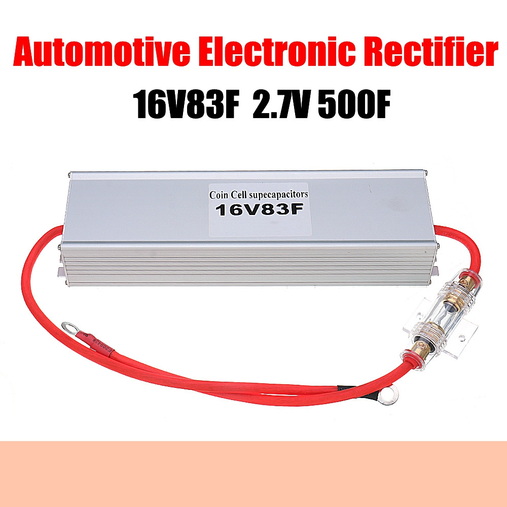 Automotive Electronic Rectifier 16V83F 2 7V500F Super Farad Capacitor for Automotive Start up Restart With Aluminum